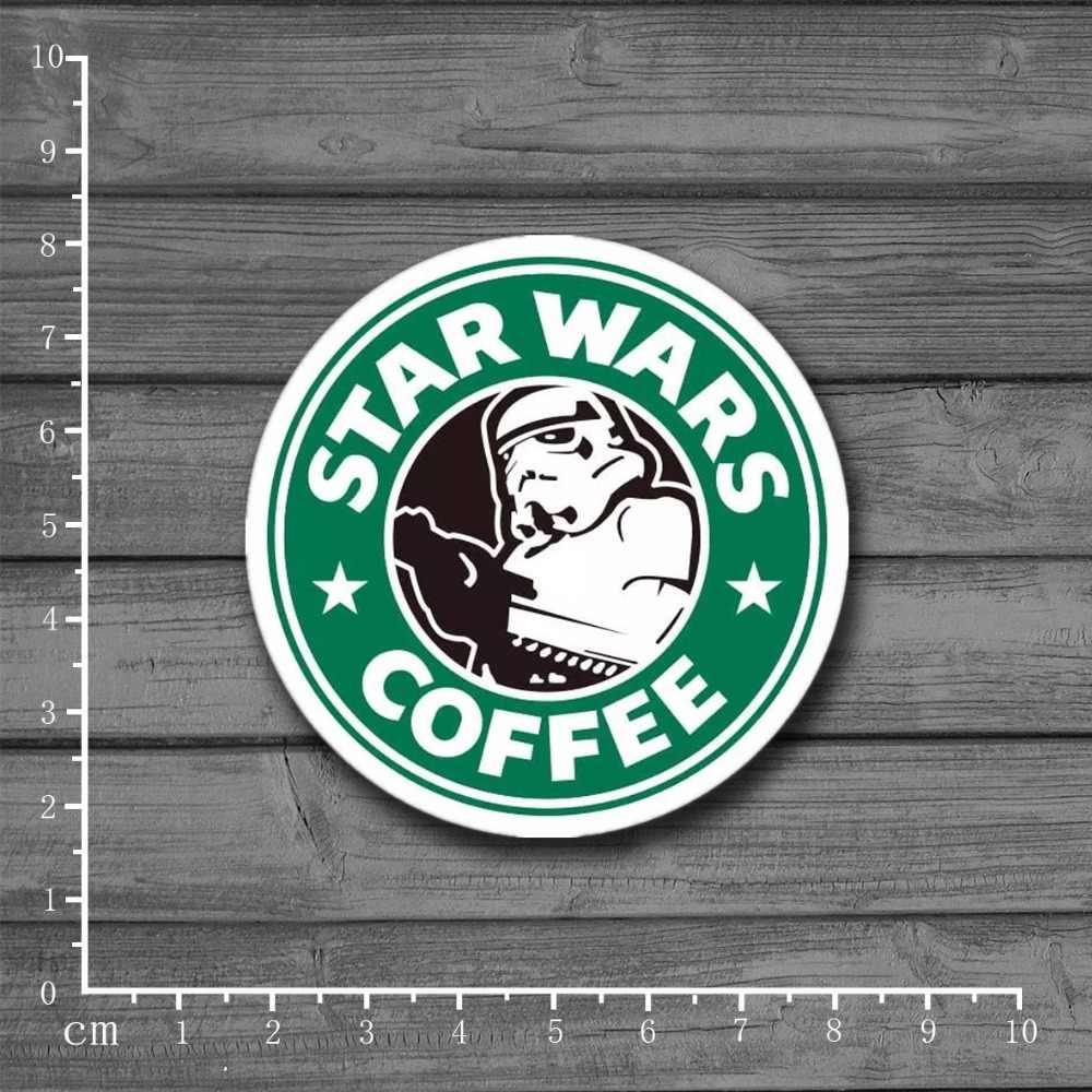 Star Wars Coffee Merek Stiker untuk Anak-anak Mainan Mobil Styling Laptop Notebook Stiker Kulkas Skateboard Batman Superman Hulk Besi pria