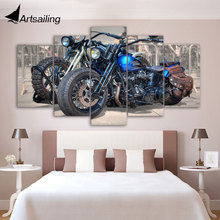 Framed Printed Motorcycle Painting children's room decor print poster picture canvas Free shipping/ny-2844 printed abstract graphics psychedelic nebula space painting canvas print decor print poster picture canvas free shipping ny 5746