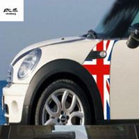 Free shipping 1pc KK material car stickers Fender decoration cover for MINI cooper R55 R56 car accessories