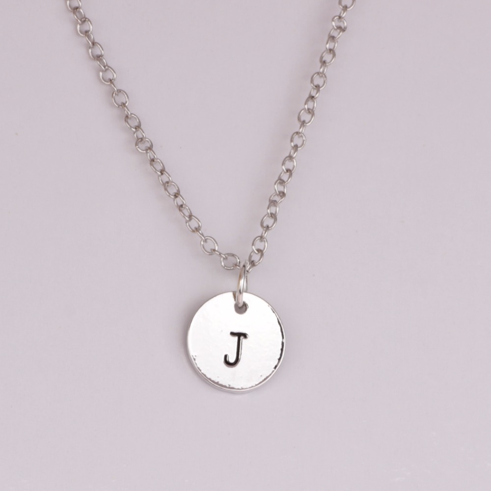 Aliexpresscom buy simple fashion letter j necklace for Letter j bracelet