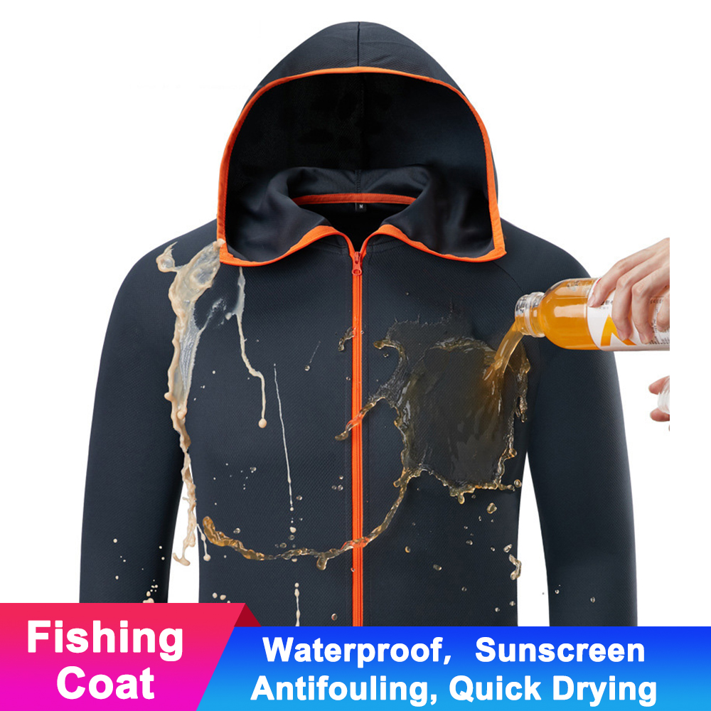 Hydrophobic Waterproof Men Fishing Clothing Anti Fouling Quick Drying Suit Protect UV Long Sleeve Shirt Fish Clothes Jacket in Fishing Clothings from Sports Entertainment