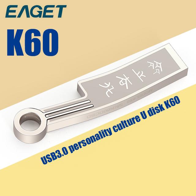 EAGET K60 USB Flash Drive USB 3.0 16G 32G 64G Pendrive Ultra Rápido de Metal A Prueba de agua Pen Memory Stick Unidad de Almacenamiento USB Stick
