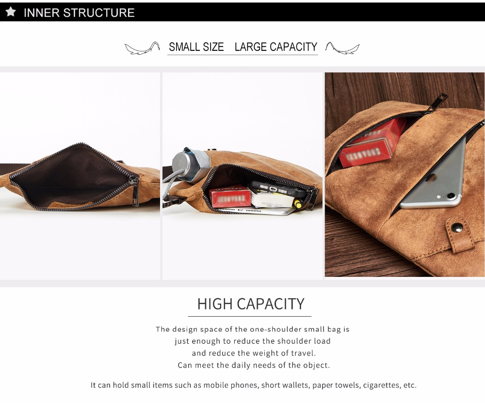 Chest Genuine Bag Men 5