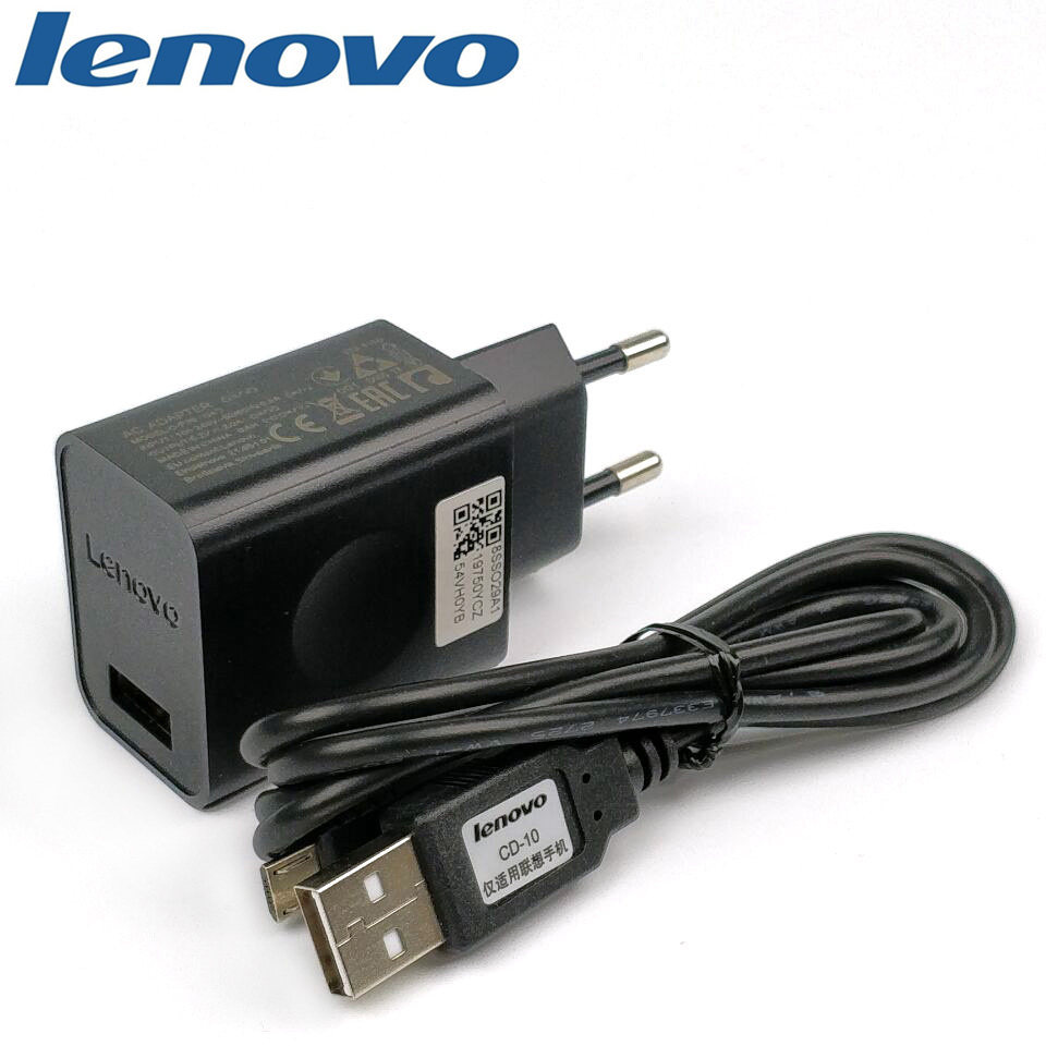 Original phone lenovo p2 Charger For Vibe p2/K5/K6 Note/a2010/p780 Smartphone 5.2V/2A Usb Wall power Adapter &Micro usb cable