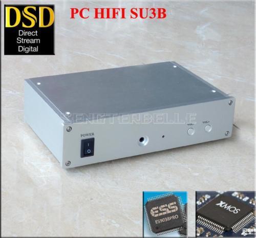 SU3B PC HiFi DAC ES9028PRO+XMOS U8 Asynchronous USB Decoder Headphone Amplifier