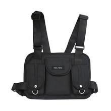 Fashion Nylon waist bag hip hop streetwear functional chest rig tactical chest bag cross shoulder bags Colorful Waist pack цена