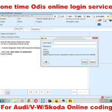 ODIS GEKO Online Coding Account Login one time Service for Audi Software 4.3.3 for VAS Diagnostic Interface 5054A 4.4.1 VAS 6154(China)