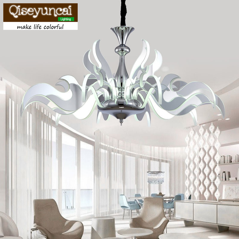 Simple creative art living room chandelier after the modern simple European personality lamp arm light lamp chandeliers crystal
