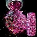 Ослепительный Макияж Блеск Цвета светло-Фиолетовый Nail Art Блеск Mix DIY Маникюр 3D Пыли Порошок Прозрачный Блестки Для Ногтей Продукты 258