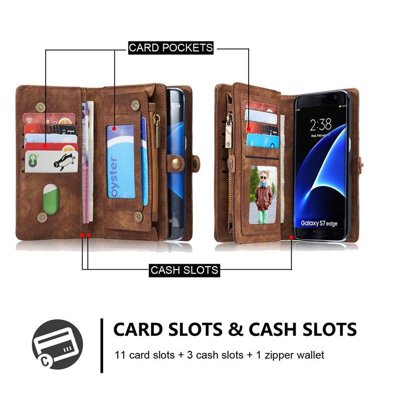 sFor Samsung Galaxy S7 / S7 Edge Case Lyx äkta läder hantverk - Reservdelar och tillbehör för mobiltelefoner - Foto 3