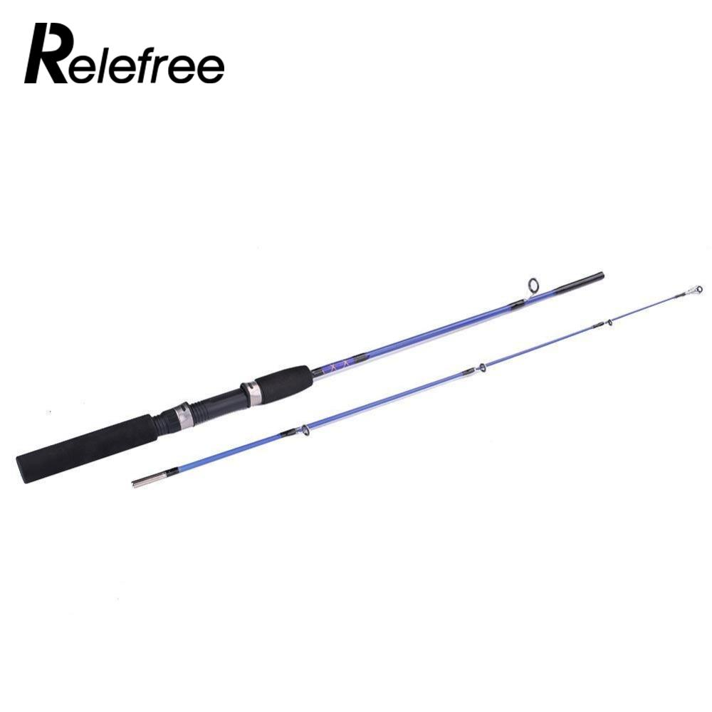 Relefree Telescopic Fishing Rod Spinning Portable Lure Section Feeder Sea Fish Pole 1.2M