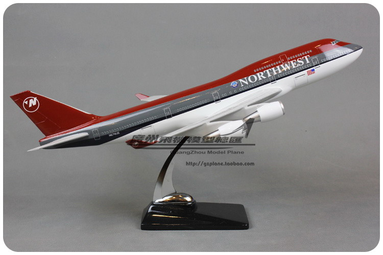 47cm Resin Northwest Airlines Airplane Model Boeing 747-400 Aircraft Model B747-400 Airways Airbus Model American Aviation Model gjaal1341 geminijets american airlines n401yx 1 400 erj 170 commercial jetliners plane model hobby