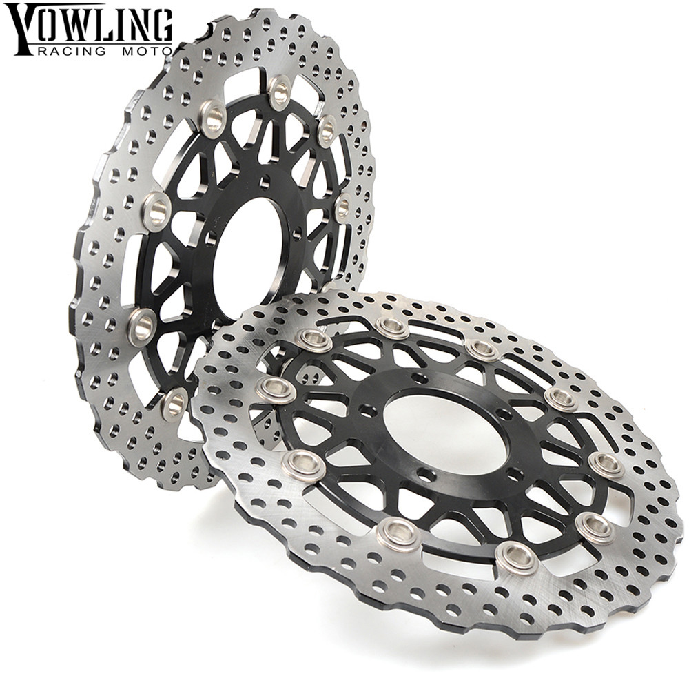 US $95 69 13% OFF|For KAWASAKI NINJA 636 ZX6R Z800 GTR ZZR ZG 1400 ZX10R  2013 2014 2015 2016 2017 One Pair CNC Floating Front Brake Disc Rotors-in
