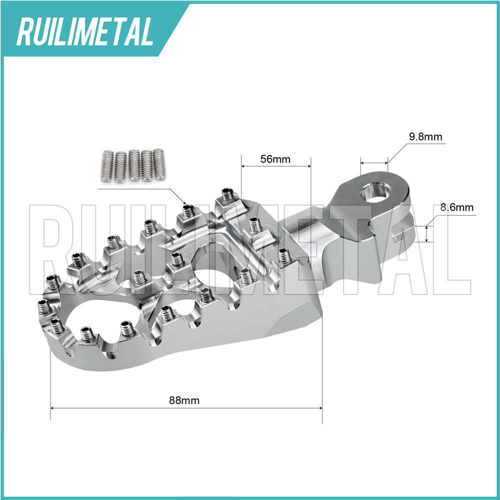 Buy Motocross Mx Offroad Front Foot Pegs Footpegs Hypermotard 796 Engine Diagram Valve Footrests Pedals For Triumph Bonneville T100 T900 Trunxon 1200 01 15 14 13 12 11 From