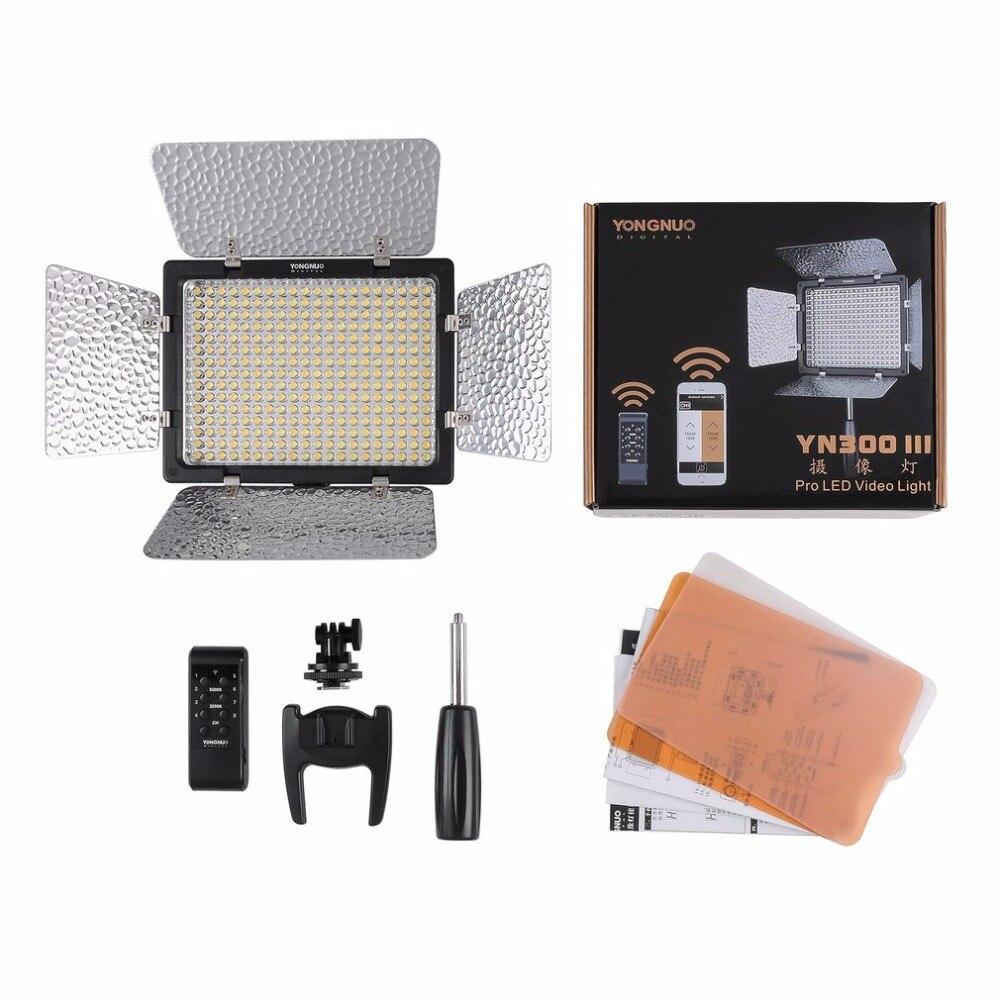 YN300-III Pro LED Studio Photo Caméra Vidéo Lumière pour DV Caméscope Canon Nikon Pentax Olympus Samsung, Panasonic JVC