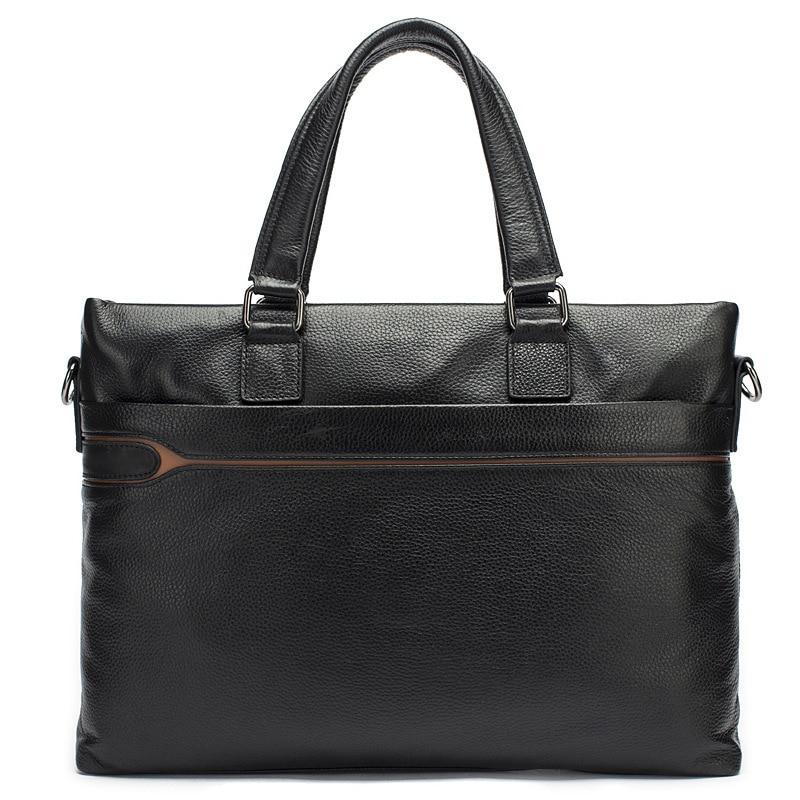 Office Handbag Briefcase-Bag Laptop-Bags Shoulder Business-Famous-Brand 14inch Men High-Quality