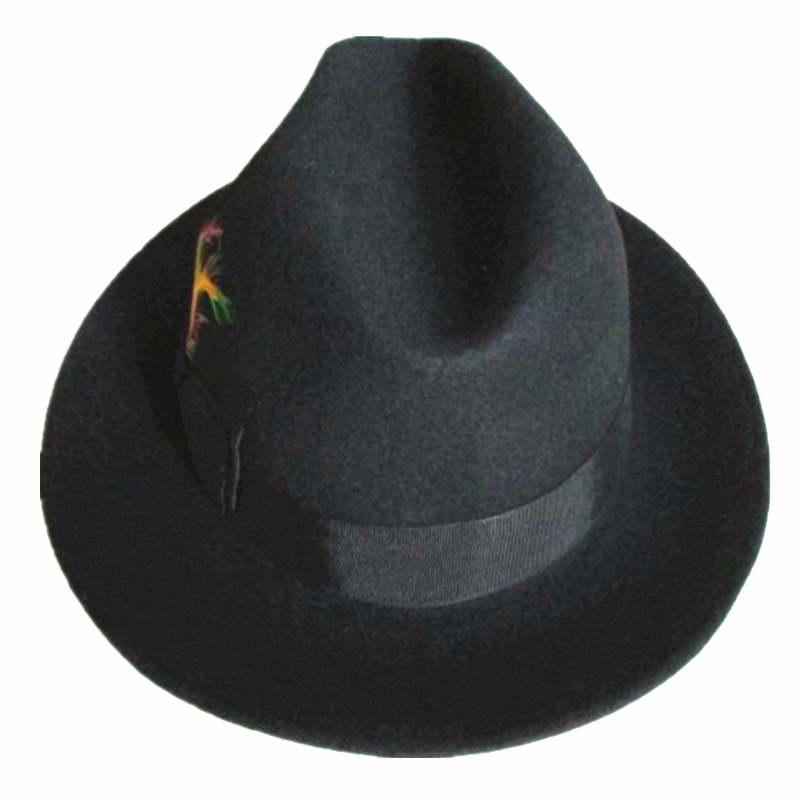 1b91a56f1966c US $34.99  Black Classic Men 's Wool Felt Fedora Hat Godfather Hat Design  in Italy-in Fedoras from Apparel Accessories on Aliexpress.com   Alibaba ...