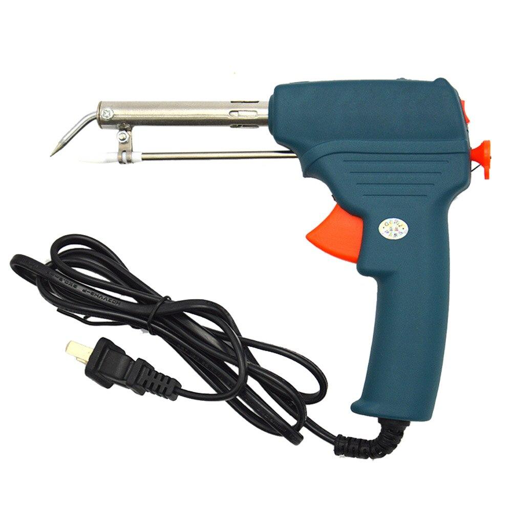 1 PCS  220V 60W  Welding Electric Soldering Iron Gun  Auto Welding Solder Iron Environmental Tools With Heatproof cover