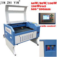 co2 6090 laser engrave machine laser cutting machine for glass stone engrave non metal marking industry 60w 80w 100w Optional