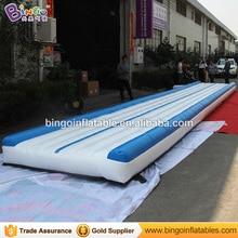 Бесплатная доставка 9 м x 2 м Гимнастика надувной матрас маты материал ПВХ, надувные воздушные луч для высокого качества игрушка спортивные