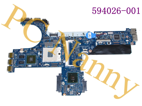 FOR HP EliteBook 8440P Intel Motherboard SPS: 594026-001 KCL00 LA-4901P Nvidia Graphics No CPU/RAM System Board
