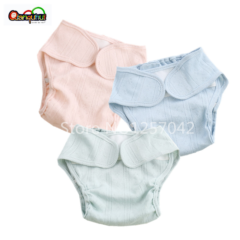 2PCS Washable Cotton Baby Cloth Diaper Cover Reusable Baby Diapers Breathable Cloth Nappy Diaper Wrap Newborn Nappy Changing