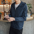 Мужская Новая Куртка Весна Осень Мода Хип-Хоп Капюшоном Куртки Хип-Хоп Водонепроницаемый Ветровка Мужчин Тонкий Пальто Куртки Верхняя Одежда 3210 #