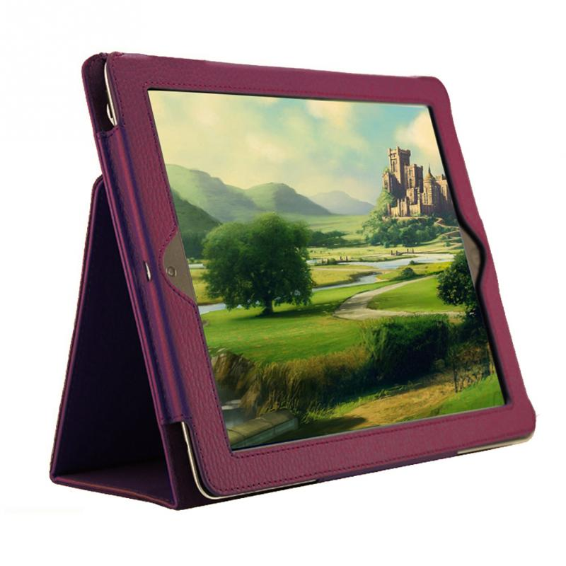 1 Pcs Litchi Pattern Protective Leather Fiber Lining Case For Ipad 2/3/4 With Smart Sleep Wake Up Function