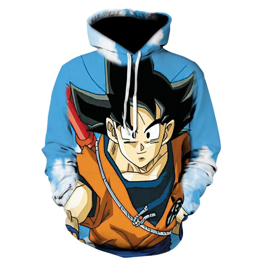 Толстовки Dragon Ball Z Goku Супер Saiyan 3 синие волосы толстовки пуловеры Для мужчин Для женщин верхняя одежда с длинными рукавами Новинка; худи