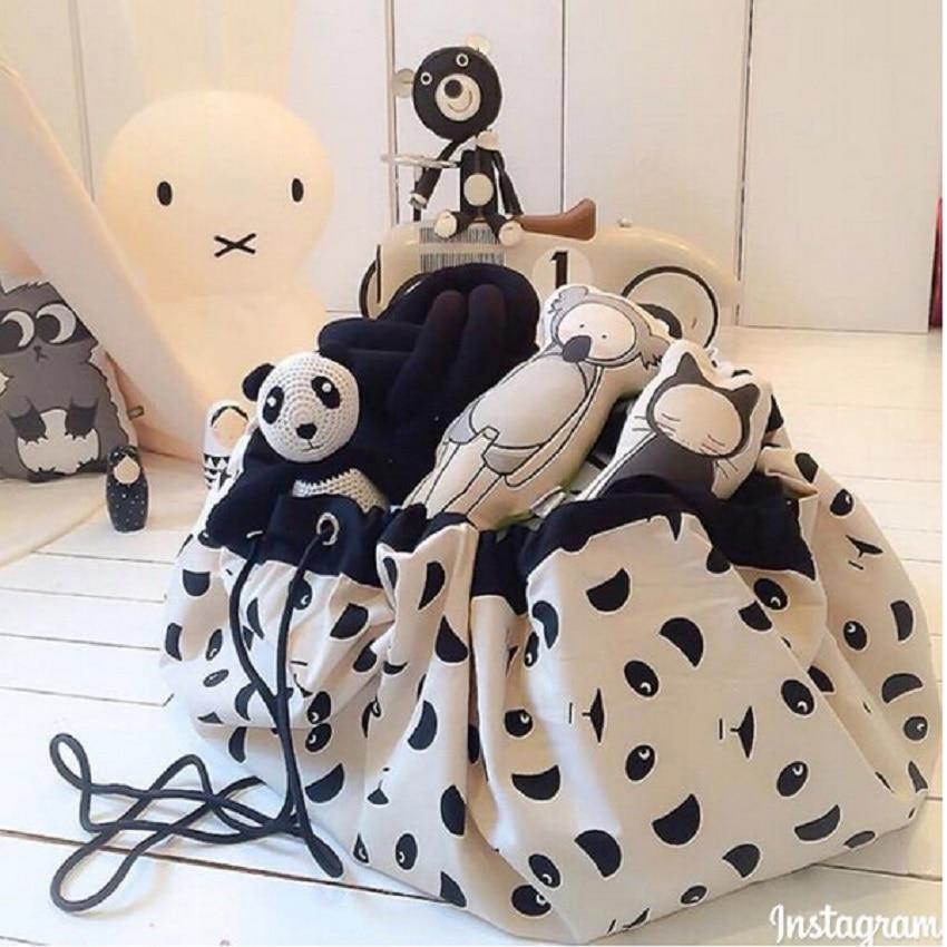 INS výbuch vousů a medvědí tvář velké skladovací tašky hraček tašky lze použít, když koberec tašky