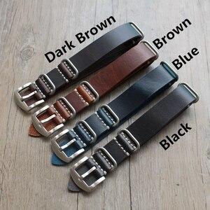 Ремешок для часов MERJUST, 20 мм, 22 мм, 24 мм, черный, коричневый, синий, армейский ремешок, ручная работа, кожаный ремешок для часов Zulu Seiko