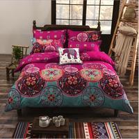 High BOHO printed duvet cover set pillowcase queen twin size quilt cover Bedding Sets 3/4pcs