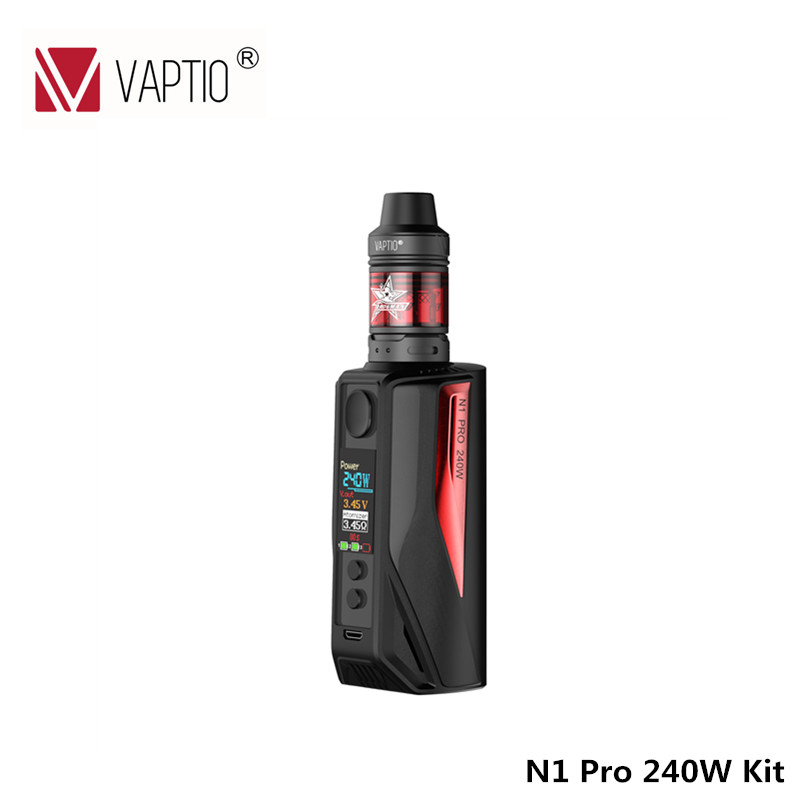 Electronic Cigarette Vaptio N1 pro kit 240W Vape mod kit 2.0ml Frogman Tank Vapor kit TOP Filling External 18650 batteries*2/3