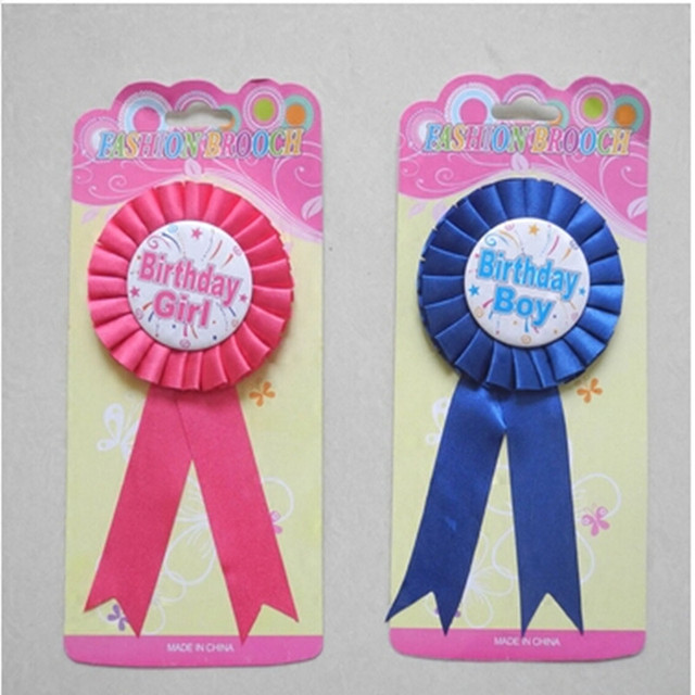 Happy Birthday Brooch Party Birthday Boy Girl Corsage Birthday Party