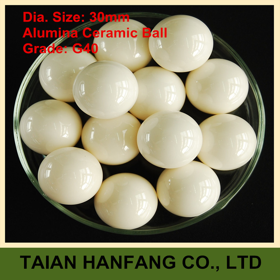 30mm  Alumina Oxide  Ceramic Ball  Al2O3   G40   3PCS  Used for Pump/Valve/Flow-Meter/etc.  30mm Ceramic Ball  цены