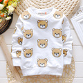 2016 Designer spring Autumn Kids t-shirt Boys Girls Cotton High Quality Cute bear Printed Wholesale&Retail Baby shirts