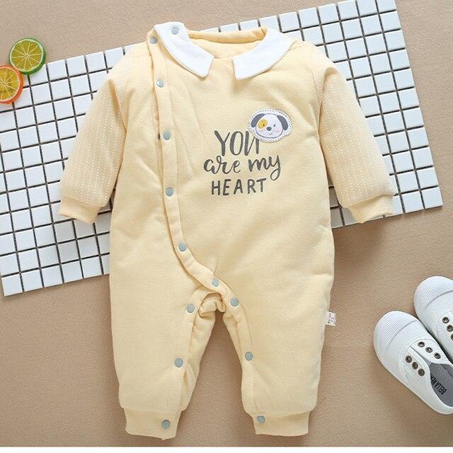 9538ae55231d Ropa de bebé para niños, ropa niña, monos gruesos invierno otoño recién  nacidos, infantil una pieza