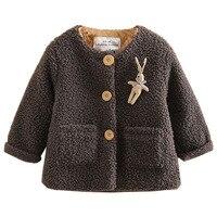 Baby Girl Berber Fleece Outerwear Girl Coat Tops 2017 Autumn Winter Kids Thicken Cotton Outerwear Jackets