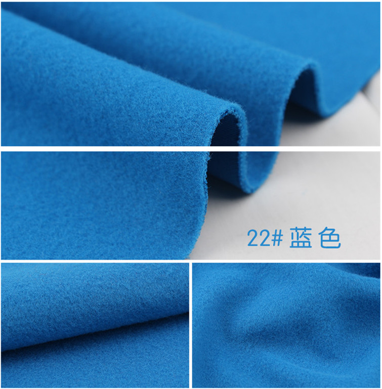 22# blue 1 meter one side brushed Imitation woolen garment fabric for DIY colthes overco ...