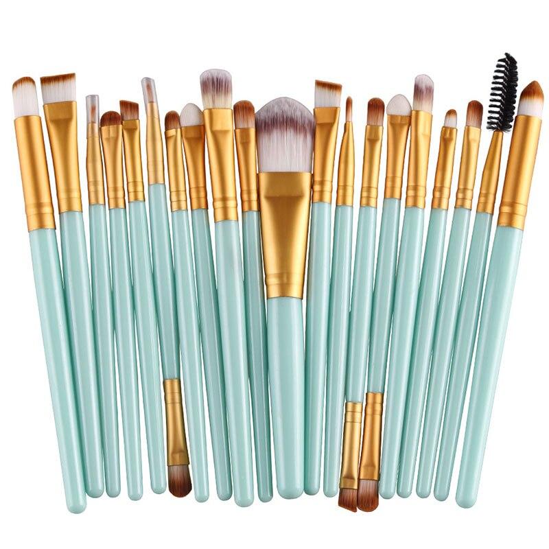 20pcs Eyes Brushes Set Eyeshadow Eyebrow Eyelashes Eyeliner Lip Makeup Brush Sponge Smudge Brush Cosmetic pincel maquiagem (3)