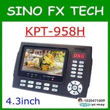 Kangput KPT-958H 4.3 polegada DVB-S/S2 Receptor de TV sat finder Portátil Multifuncional Monitor de Localizador de Satélite HD cccam MPGE4