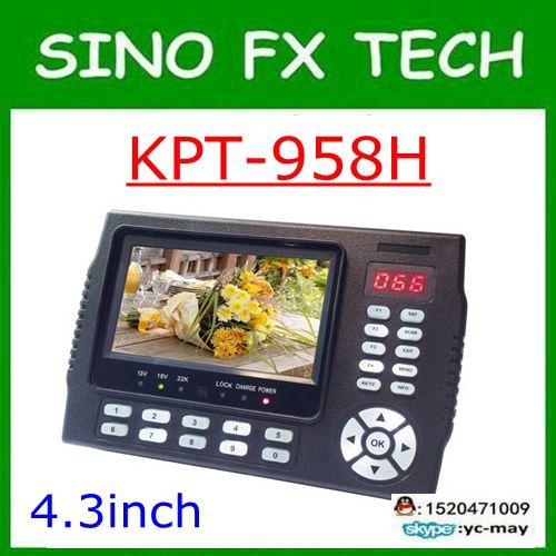 Kangput KPT-958H 4.3 pouces DVB-S/S2 TV récepteur sat finder Portable multifonctionnel HD Satellite Finder moniteur MPGE4 cccam