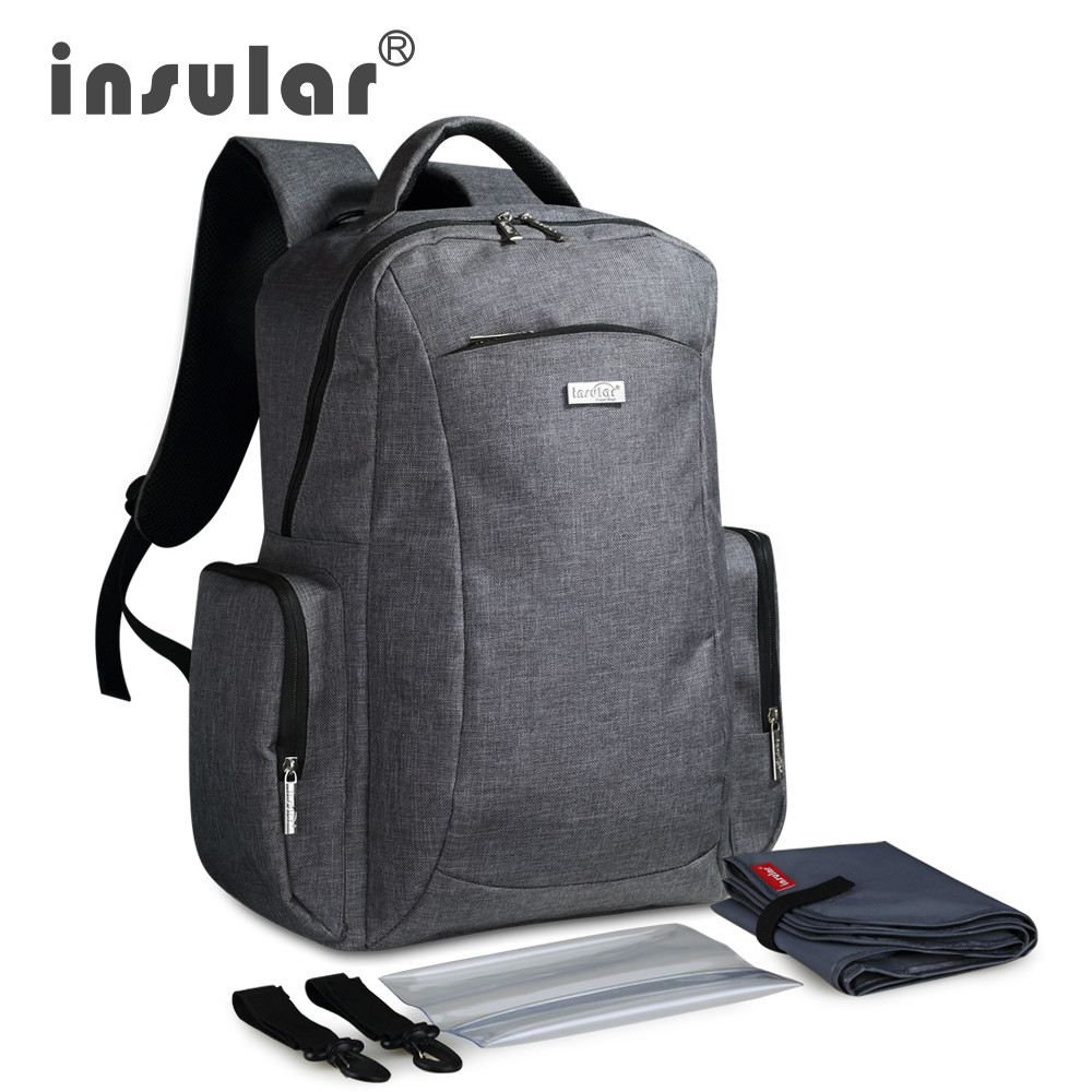 Insular New Style Multifunctional Large Capacity Baby Diaper Bag Backpack Mommy Nappy Bag Backpack Include Plastic Napkin BoxInsular New Style Multifunctional Large Capacity Baby Diaper Bag Backpack Mommy Nappy Bag Backpack Include Plastic Napkin Box