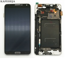 цена на For Samsung Galaxy Note 3 N900 N9005 N900A N900V LCD Display Touch Screen Digitizer Assembly With Frame