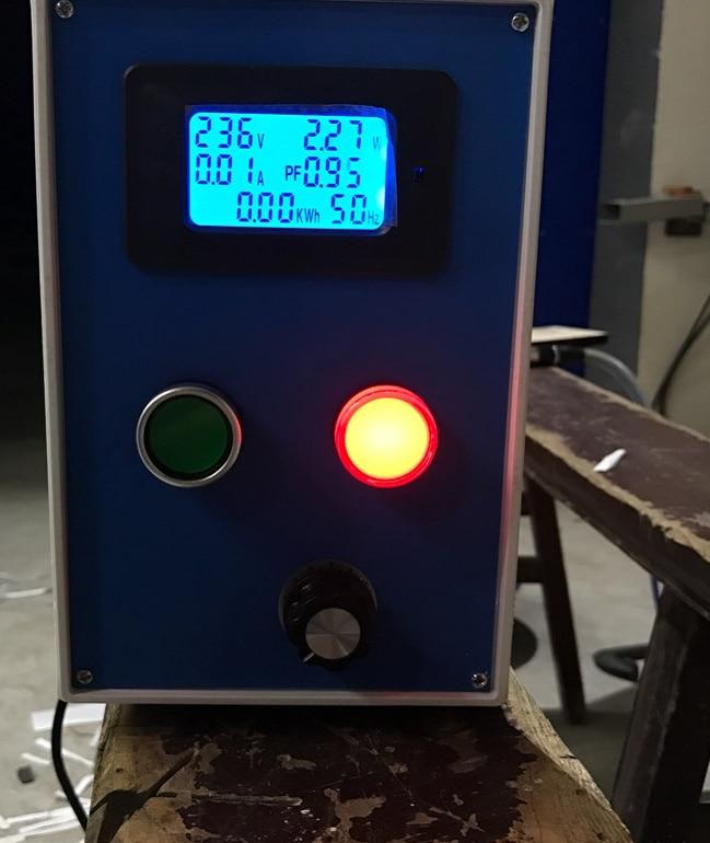 AC220V 20A Misuratore di tensione digitale Contatore di energia LCD - Strumenti di misura - Fotografia 4