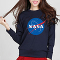 2016 autumn new funny harajuku tracksuit NASA print fashion women long sleeve sweatshirt fleece casual alien swag femme hoodies