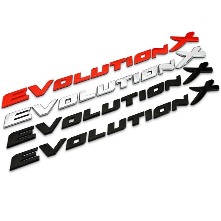 Evolution X-emblema de plástico ABS con letras para coche, insignia de reacondicionamiento de maletero, pegatina 3D para Mitsubishi Lancer EVO