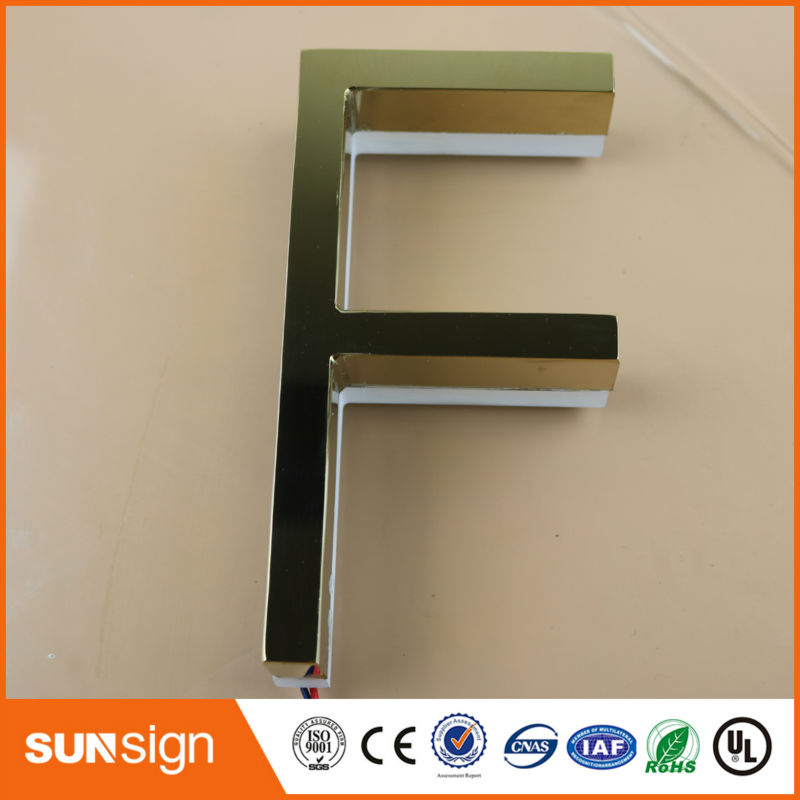 Taobao Sign Manufacturing Waterproof Rose Gold Backlit Led Letter Sign
