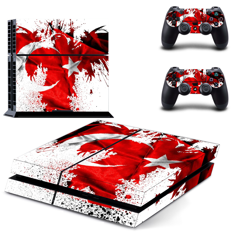 Image 3 - Stickers PVC Vinly Ps4 Skin of Turkey Flag Sticker Cover For Sony Playstation 4 Console and Controller Ps4 Accessory-in Stickers from Consumer Electronics