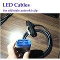 Светодиодный OBD2 кабель OBDII 16pin Замена для классического Авто oki чип bluetooth VD TCS PRO PLUS OBD кабели Запчасти Бесплатная доставка